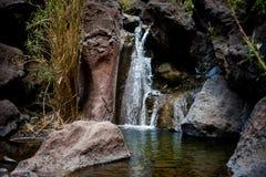 Bella cascata di Tenerife - valle di Masca fotografia stock
