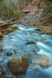 Bella cascata Huk della montagna nei Carpathians Immagini Stock