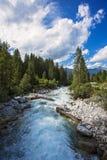 Bella cascata Krimml (Austria, Tirolo) della montagna delle alpi Immagini Stock Libere da Diritti