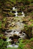 Bella cascata in montagne di Sudety Fotografia Stock Libera da Diritti