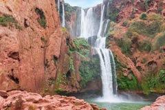 Bella cascata in Ouzoud, Azilal, Marocco Grande atlante Fotografia Stock