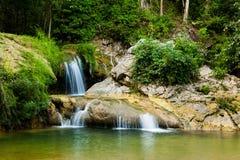 Bella cascata in Soroa, Vinales Cuba Immagine Stock Libera da Diritti