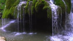 Bella cascata unica di Bigar in Romania stock footage