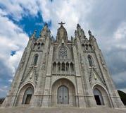 Bella cattedrale di Tibidabo Immagine Stock Libera da Diritti
