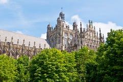 Bella cattedrale gotica di stile in Den Bosch, Paesi Bassi fotografia stock libera da diritti