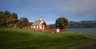 Bella chiesa in Akaroa Nuova Zelanda Immagini Stock