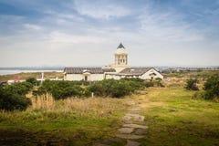 Bella chiesa cattolica a Seopjikoji, situato alla conclusione della t Fotografie Stock Libere da Diritti