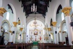 Bella chiesa di Veracruz nella città di Medellin fotografie stock libere da diritti