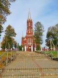 Bella chiesa rossa, Lituania Immagine Stock Libera da Diritti