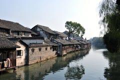 Bella città cinese dell'acqua, Wuzhen Suzhou Jiangsu Cina Fotografia Stock Libera da Diritti