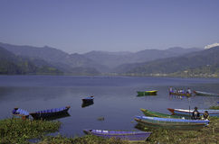 Bella città del Nepal, Pokhara Immagine Stock Libera da Diritti