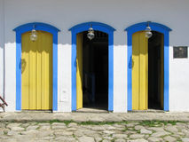 Bella città di Paraty, una di più vecchie città coloniali in Br Fotografia Stock