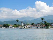 Bella città di Paraty, una di più vecchie città coloniali in Br immagine stock libera da diritti