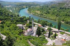 Bella città di Pocitelj in Erzegovina Immagine Stock Libera da Diritti