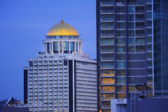 Bella città di punto di vista di Bangkok Immagini Stock