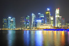 Bella città di punto di vista di Marina Bay Sands Immagini Stock