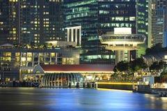 Bella città di punto di vista di Marina Bay Sands Fotografie Stock