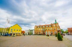 Bella città di Simrishamn, Svezia Fotografie Stock