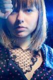 Bella collana dai branelli neri Fotografia Stock Libera da Diritti
