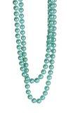 Bella collana delle perle blu Immagine Stock Libera da Diritti