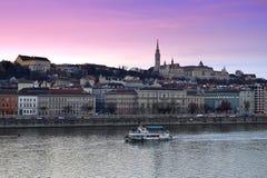 Bella collina Budapest del castello Immagine Stock