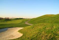 Bella collina di golf Fotografie Stock Libere da Diritti