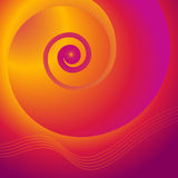 bella copertura di rivista del fondo porpora a spirale dell'oro Fotografia Stock