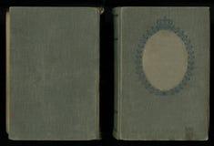 Bella copertura di un libro d'annata con la struttura floreale reale un'etichetta in bianco per il vostri testo e ritratto Fotografia Stock