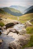 Bella corrente nelle montagne della Romania, Carpathians fotografia stock libera da diritti
