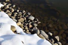 Bella costa di inverno Immagini Stock Libere da Diritti