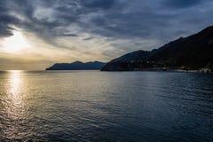 Bella costa di mare dell'Italia Immagine Stock Libera da Diritti