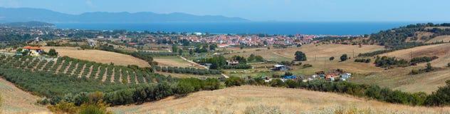 Bella costa di mare di estate Halkidiki, Grecia Fotografia Stock