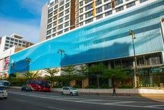 Bella costruzione con una facciata moderna Kota Kinabalu, Sabah, Malesia Immagini Stock