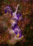 Bella creatura leggiadramente nei toni marroni dorati, illustrazione dell'unicorno Fotografia Stock