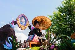 Bella cultura della Tailandia della donna Immagini Stock Libere da Diritti