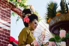 Bella cultura della Tailandia della donna Fotografie Stock