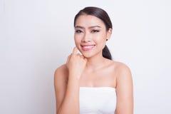 Bella cura di pelle asiatica della donna fotografia stock