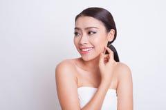 Bella cura di pelle asiatica della donna immagine stock libera da diritti