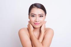 Bella cura di pelle asiatica della donna fotografie stock libere da diritti
