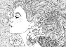 Bella dea del mare, immagine stock