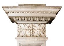 Bella decorazione architettonica di marmo con gli elementi floreali Fotografia Stock