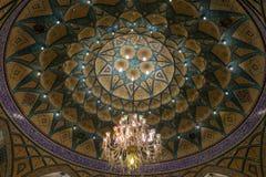 Bella decorazione del mosaico della cupola a Imamzadeh Helal Ali Immagini Stock Libere da Diritti