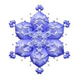 Bella decorazione della fioritura del fiore del fiore del blu 3d illustrazione di stock