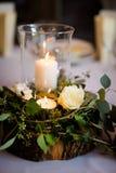 Bella decorazione della tavola di ricevimento nuziale Fotografia Stock Libera da Diritti