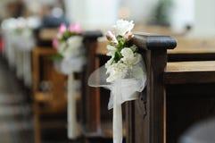 Bella decorazione di cerimonia nuziale del fiore Fotografia Stock