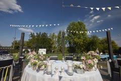 Bella decorazione di nozze fuori il giorno soleggiato Immagine Stock Libera da Diritti
