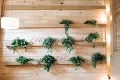 Bella decorazione rustica di nozze, Immagine Stock Libera da Diritti