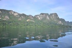 Bella diga dell'isola della natura Immagine Stock