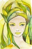 Bella donna. illustrazione di stock