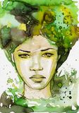 Bella donna. royalty illustrazione gratis